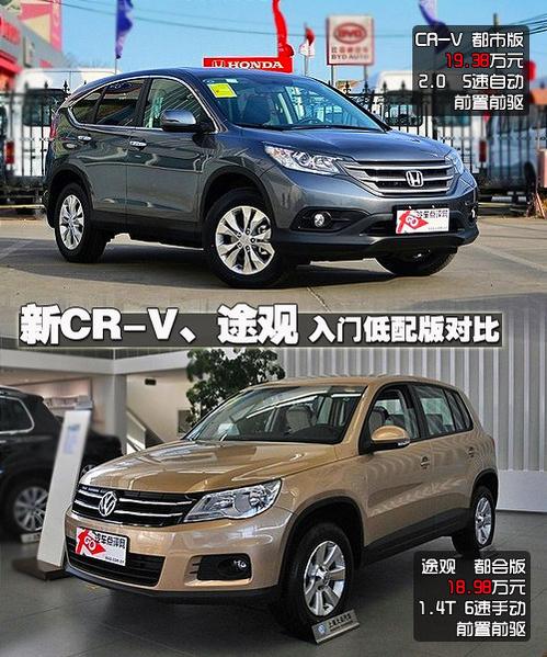 新CR-V对比途观