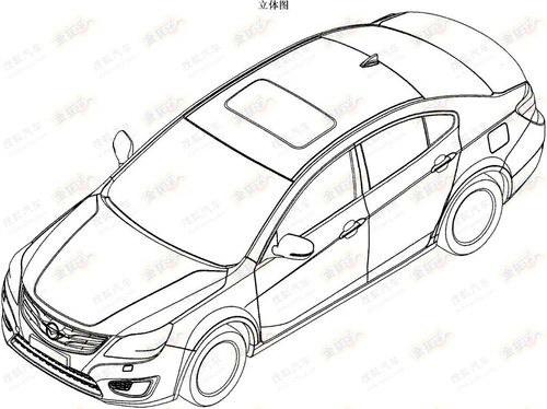 基于睿翼设计 海马5新B级车申报图曝光