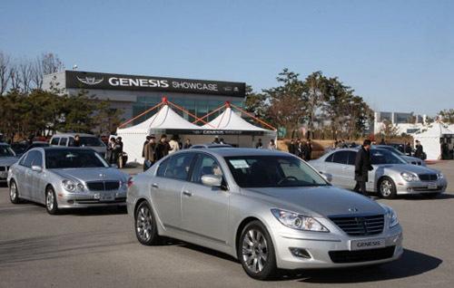 车标酷似宾利 现代劳恩斯在韩正式亮相 高清图片