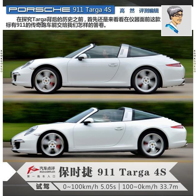 汽车今日看点评测保时捷911 Targa 4S怎么样及保时捷911 Targa 4S的配置如何