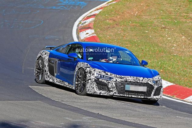 奥迪R8 GT赛道测试谍照 或于2019年亮相