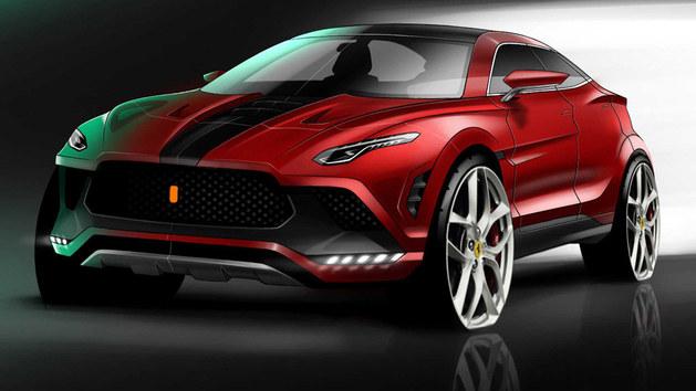 法拉利SUV车型效果图曝光 或2022年亮相