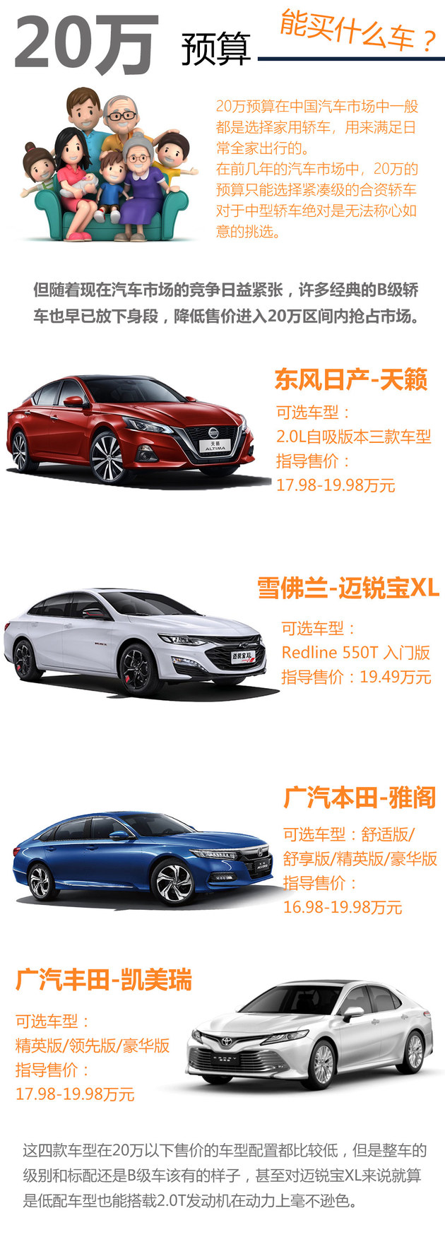 20万能买什么车?看四台合资B级车推荐