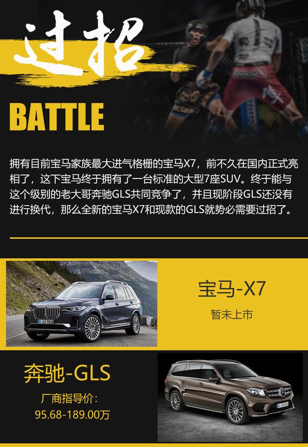 豪华旗舰SUV之争 宝马X7过招奔驰GLS