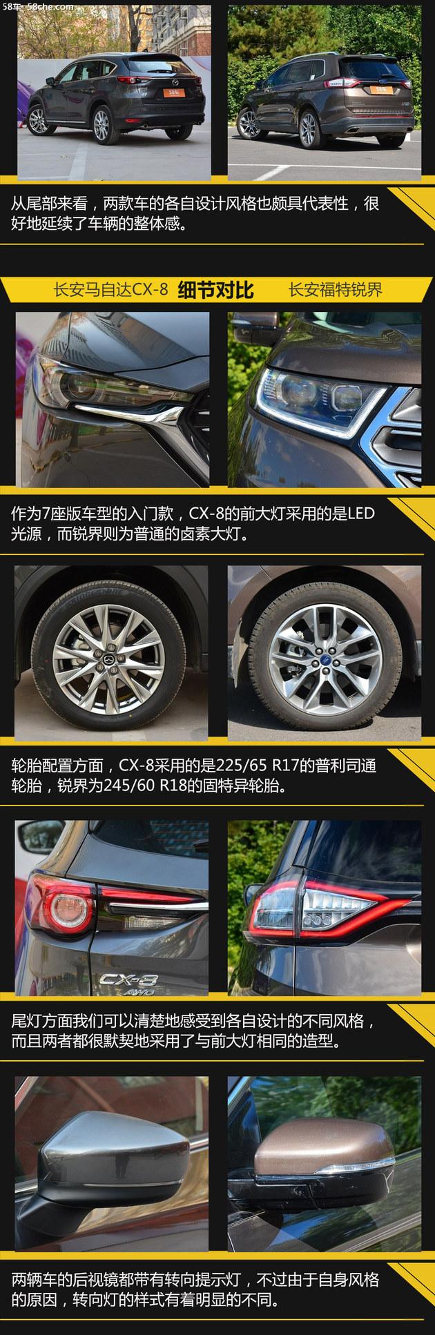 马自达CX-8过招福特锐界 实用主义的pk